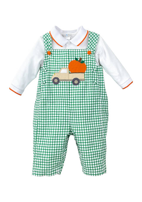 Baby Boys Harvest Truck Overalls Set