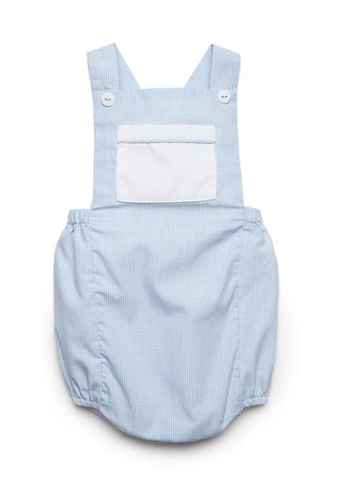 Cheap Petit Ami Boys Newborn Gingham Overalls