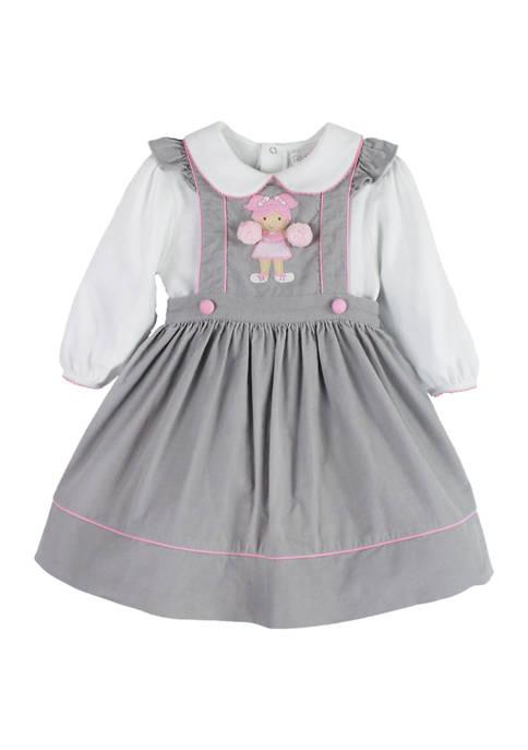Baby Girls Gray Cheer Dress Set