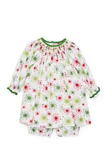 Baby Girls Print Bishop Dress Set