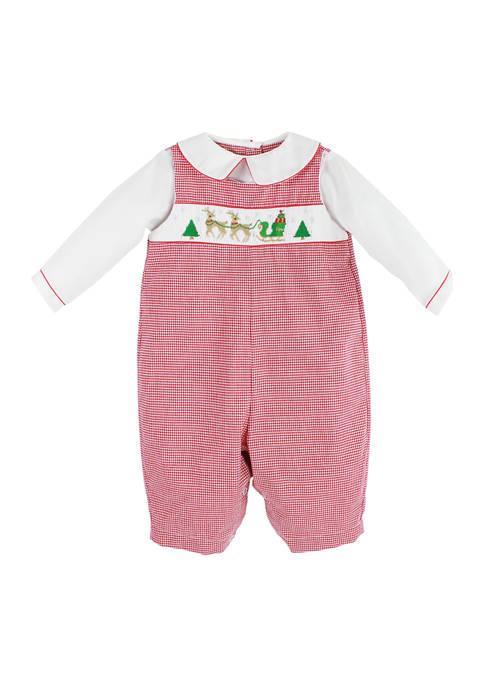 Baby Boys Christmas Overalls