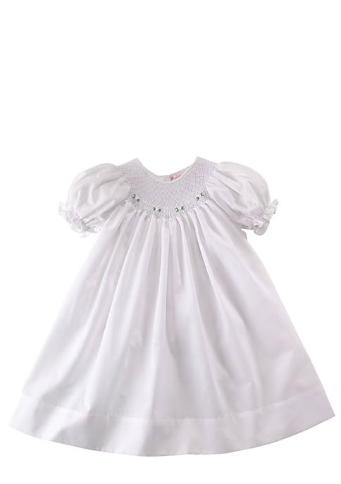 Petit Ami Smocked Day Gown - Newborn | belk