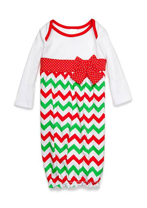 Nursery Rhyme® Chevron Gown Infant/Baby Girls | belk