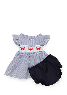 Nursery Rhyme® Crab Smocked Dress