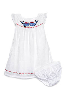 Nursery Rhyme® Swiss Dot Whale Dress