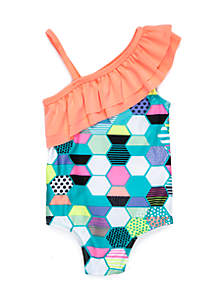 One-Piece Ruffle Swimsuit Infant Girls
