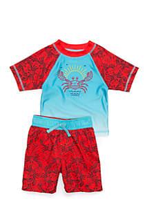 2-Piece Rashguard and Swim Trunk Set Baby Boys