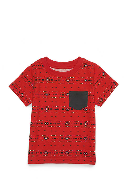 TRUE CRAFT Boys Infant Ringer Pocket Tee