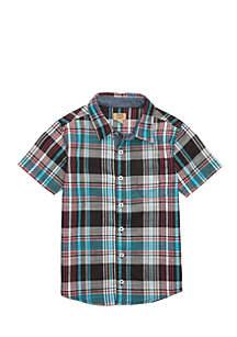 Toddler Boys 2-Pocket Woven Shirt