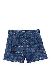 Toddler Girls Crepe Shorts