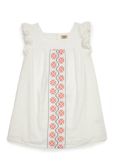 TRUE CRAFT Toddler Girls Peasant Dress