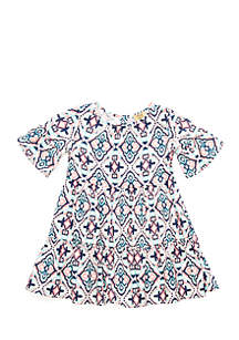 Toddler Girls Short Sleeve Tiered Dress