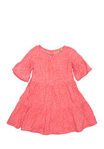 Toddler Girls Short Sleeve Tiered Dress