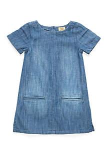 Toddler Girls Short Sleeve Shift Dress