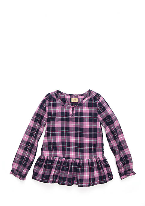 Toddler Girls Holiday Plaid Dress