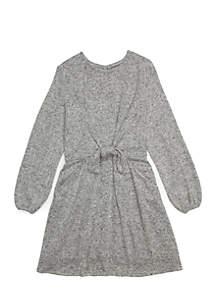 TRUE CRAFT Toddler Girls Tie Front Dress