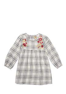 Toddler Girls Ivory Plaid Dress
