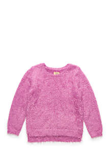 Toddler Girls Long Sleeve Fuzzy Sweater