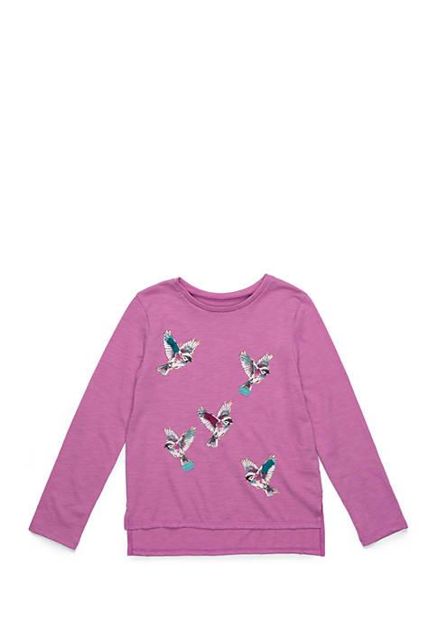 Toddler Girls Long Sleeve Bird Tee