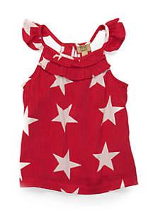 Girls Infant Woven Star Tank