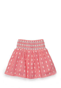 Girls Infant Smocked Skirt