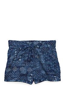Infant Girls Bandana Print Shorts