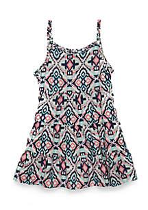 Girls Infant Challis Tiered Dress