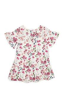 Girls Infant Floral Tiered Dress