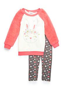 Toddler Girls Bunny Woobie Sleeve Set