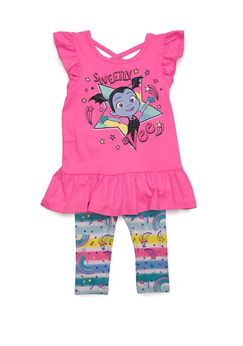 Toddler Girls Vampirina Short Sleeve Legging Set