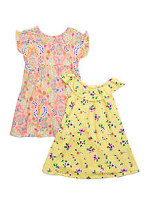 5a0f2787c07 ... Forever Me Toddler Girls Yummy Butterfly and Floral Dress Set
