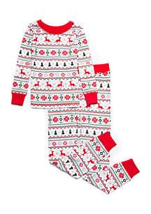 Toddler Girls Fairisle Pajama Set