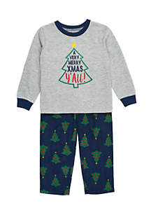 Toddler Girls Merry Christmas Y'all Pajama Set