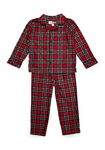 Toddler Boys Traditional Plaid Pajama Set