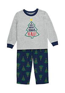 Toddler Boys Merry Christmas Y'all Pajama Set