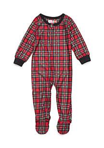 Baby Traditional Plaid Pajama Bodysuit