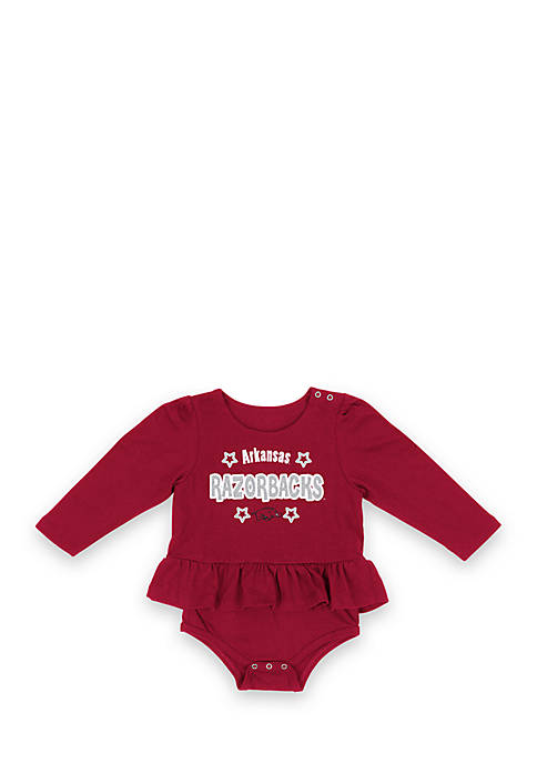 Colosseum Athletics Arkansas Rock-A-Bye Long Sleeve Onesie