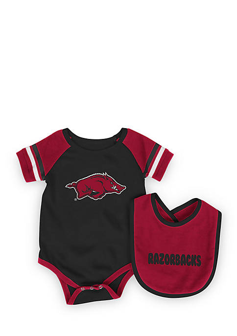Colosseum Athletics Arkansas Razorbacks Onesie with Bib