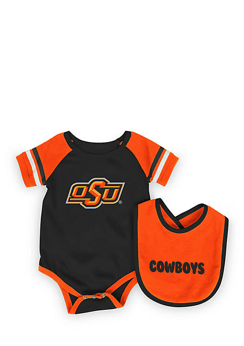 Colosseum Athletics Oklahoma State Cowboys Bodysuit with Bib