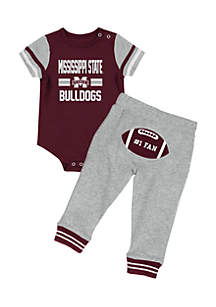 Colosseum Athletics Mississippi State Bulldogs Infant Boys Football Onesie Pant Set