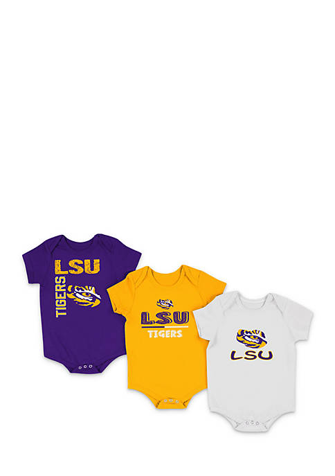 Colosseum Athletics Infant Boys LSU 3-Piece Bodysuit Set
