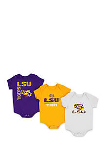 Infant Boys LSU 3-Piece Bodysuit Set