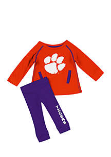 Infant Girls Clemson Tiger Tunic Legging Set
