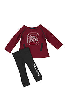 Infant Girls South Carolina Gamecocks Nice Kick Tunic and Legging Set