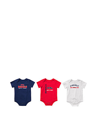 check out b0c18 3a865 Baby Ole Miss Rebels Runt Bodysuit Set