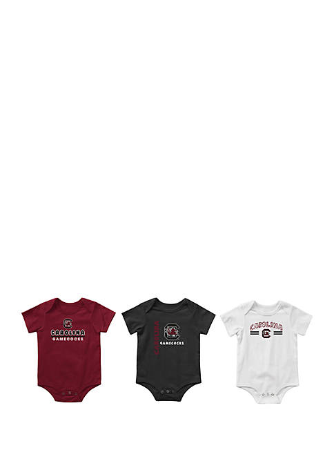 Baby Boys NCAA South Carolina Gamecocks Runt Bodysuit Set