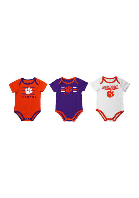 Baby Boys NCAA Clemson Tigers Set of 3 Bodysuits