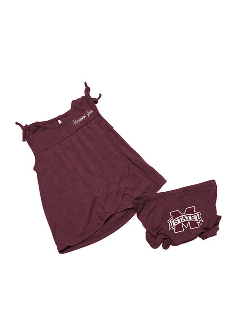 Baby Girls NCAA Mississippi State Bulldogs Tank and Bloomer Set
