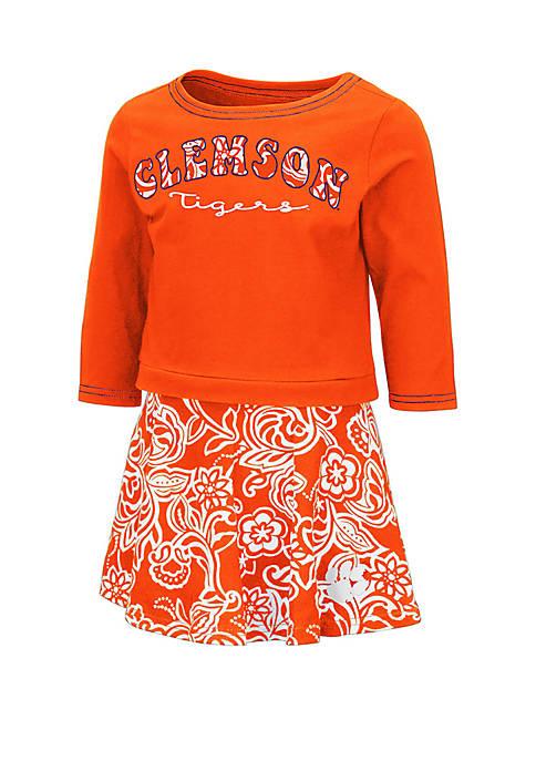 Colosseum Athletics Toddler Girls Clemson Tigers Skort Set