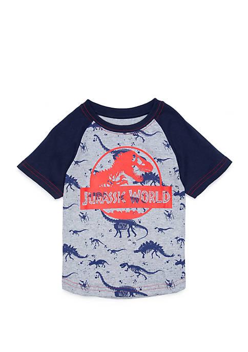 Jurassic World Toddler Boys Short Sleeve Raglan Graphic